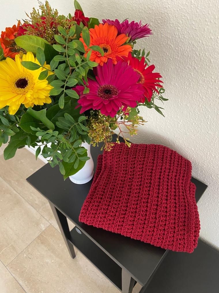 Bloemen en sjaal