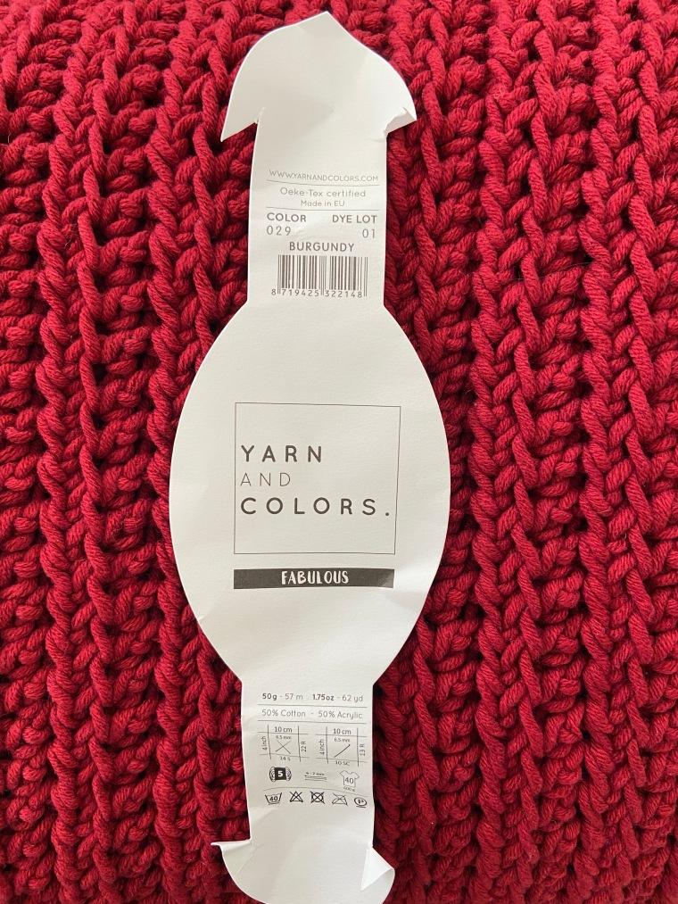 Yarn and Colors Burgundy